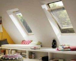 Карнизное окно в оформлении мансарды
